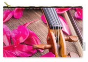 Violin And Roses Carry-all Pouch