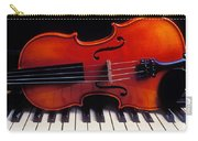 Violin On Piano Keys Carry-all Pouch by Garry Gay