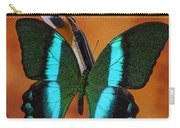Violin With Green Black Butterfly Carry-all Pouch