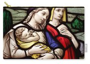 Virgin Mary And Baby Jesus Stained Glass Carry-all Pouch