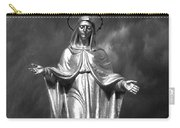 Virgin Mary And The Thunderstorm Bw Carry-all Pouch