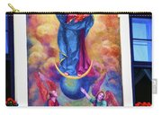Virgin Mary Mural Carry-all Pouch by Mariola Bitner