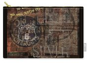 Virginia City Nevada Grunge Poster Carry-all Pouch