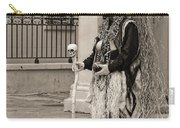 Voodoo Man In Jackson Square New Orleans- Sepia Carry-all Pouch