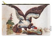 Vulture Attacking A Snake Carry-all Pouch
