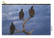 Vultures Perched On A Branch No.0022 Carry-all Pouch