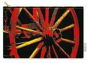 Wagon Wheel In Red Carry-all Pouch
