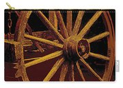 Wagon Wheel In Sepia Carry-all Pouch