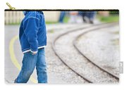Waiting For Train Carry-all Pouch by Tom Gowanlock