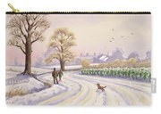 Walk In The Snow Carry-all Pouch by Lavinia Hamer