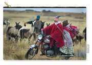 Walk Through The Highlands. Republic Of Bolivia.  Carry-all Pouch