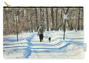 Walking The Dog Carry-all Pouch by Paul Ward