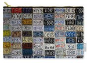 Wall Of License Plates Carry-all Pouch