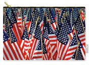 Wall Of Us Flags Carry-all Pouch