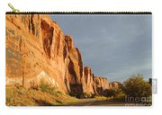 Wall Street Cliff Near Moab Carry-all Pouch by Gary Whitton
