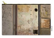 Walls With Graffiti In An Abandoned House. Carry-all Pouch