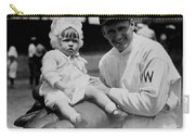Walter Johnson Holding A Baby - C 1924 Carry-all Pouch