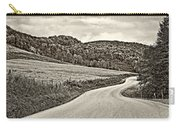 Wandering In West Virginia Sepia Carry-all Pouch