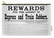Wanted Poster, 1881 Carry-all Pouch