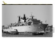 Warship Hms Bulwark Carry-all Pouch by Jasna Buncic