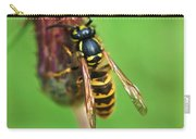 Wasp On Plant Carry-all Pouch