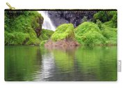 Waterfall Reflection In Tahiti Carry-all Pouch