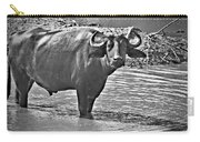 Water Buffalo In Black And White Carry-all Pouch