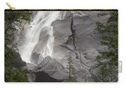 Water Cascading Down The Rock And Carry-all Pouch