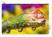 Water Drops On A Budding Flower Carry-all Pouch