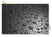 Water Drops On Black Metalica. Business Card. Invitation. Sympathy Note. Carry-all Pouch