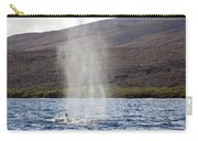 Water From A Whale Blowhole Carry-all Pouch
