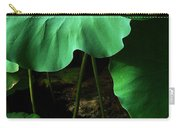 Water Lilies Of Green Carry-all Pouch