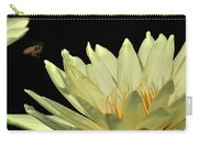 water lily 3 Yellow Water Lily with Bee Carry-all Pouch