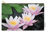 water lily 88 Sunny Pink Water Lily with Reflection Carry-all Pouch