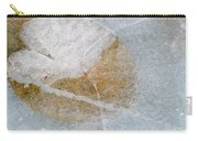 Water Lily Leaf In Ice, Boggy Lake Carry-all Pouch