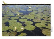 Water Lily Nymphaea Sp Flowering Carry-all Pouch