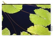 Water Lily Pads And Bloom Carry-all Pouch