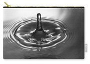 Water Splash In Black And White Carry-all Pouch