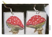 Watercolor Earrings Amanita Carry-all Pouch