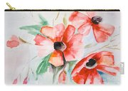 Watercolor Poppy Flower  Carry-all Pouch