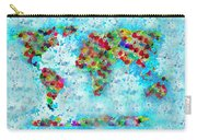 Watercolor Splashes World Map Carry-all Pouch