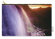 Waterfall At Sunset, Bugaboo Glacier Carry-all Pouch