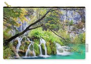 Waterfall In The Plitvice Lakes National Park Carry-all Pouch