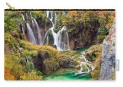Waterfalls In Autumn Scenery Carry-all Pouch