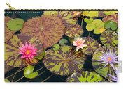Waterlilies In A Garden Pool Carry-all Pouch