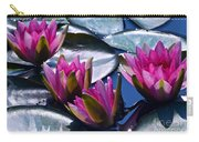 Waterlilies In Bright Sunlight Carry-all Pouch