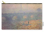 Waterloo Bridge Carry-all Pouch by Claude Monet