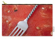 Watermelon And Fork Carry-all Pouch