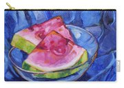 Watermelon On Blue Carry-all Pouch