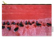 Watermelon Seeds Carry-all Pouch by Susan Herber